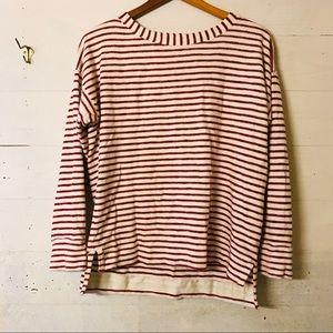 Madewell Red Surf Seaside Sweatshirt Striped